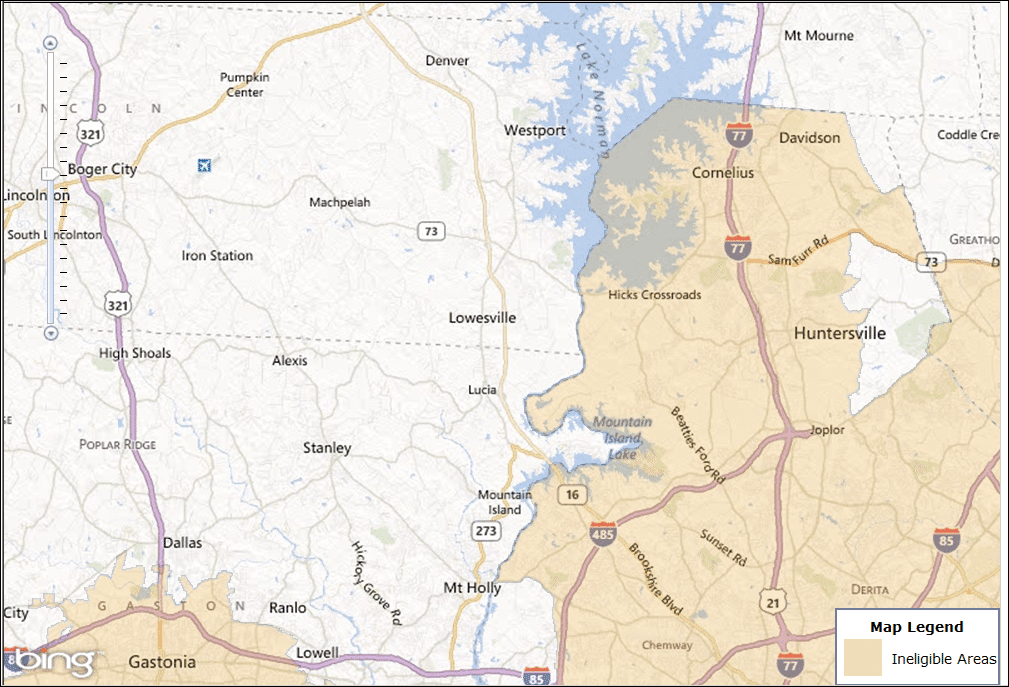 Charlotte Northwest USDA Map – USDA Homes for Sale