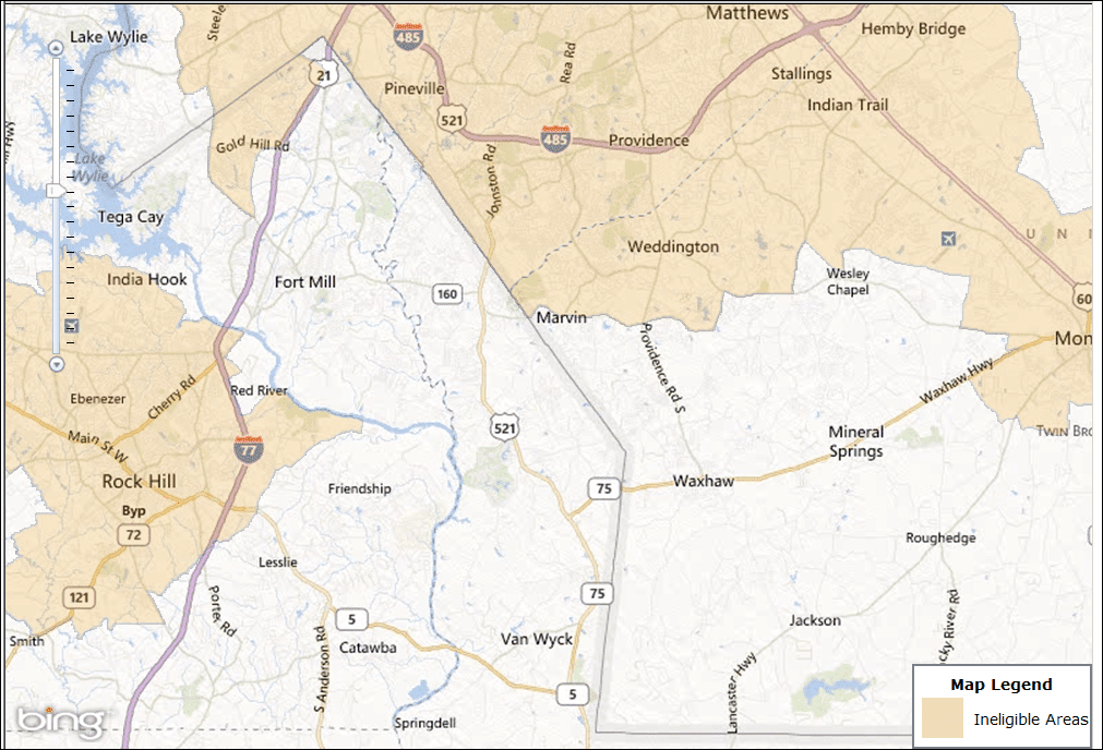 Charlotte South USDA Map – USDA Homes for Sale